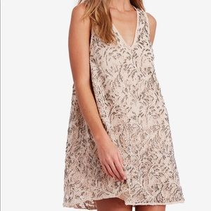 Free People Shine On Mini Lace Dress MED